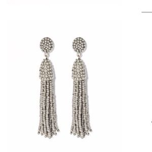 NWOT Sugarfix Silver Tassel Earrings